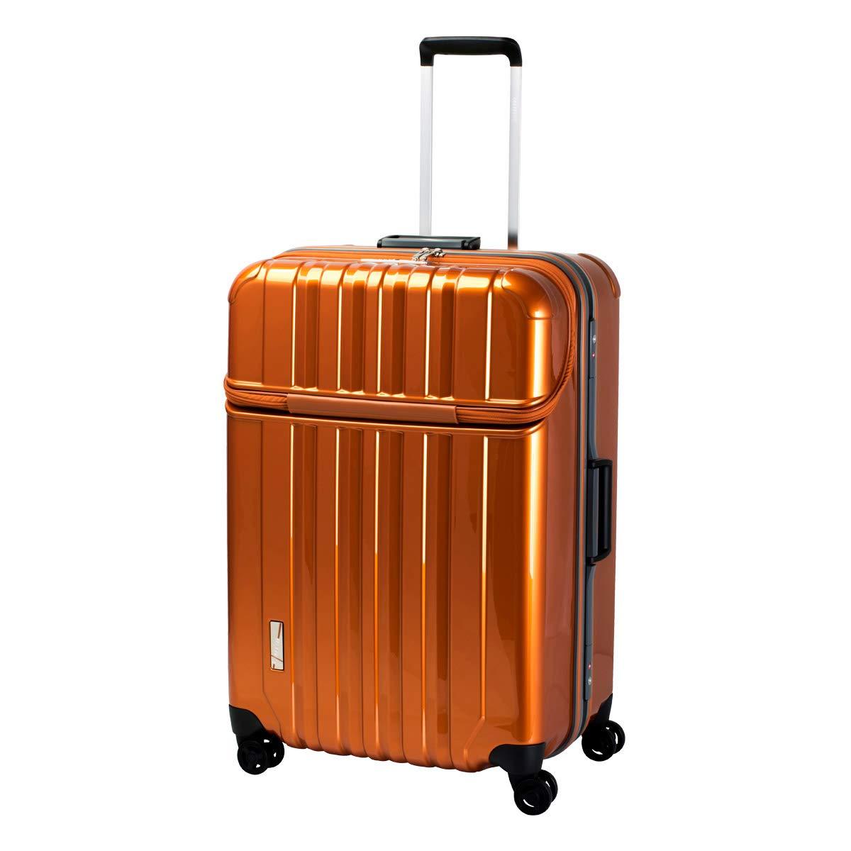 [トラベリスト] スーツケース トラストップ トップオープン 100L 68.5cm 5.8kg 76-20430  【09】オレンジ B07L8XM33G