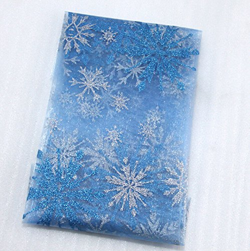 FunnyPicker 50x147Cm Glitter Snowflake Gauze Fabric For Tissue Kids Bedding Textile For Sewing Tilda Doll Diy Handmade Materials