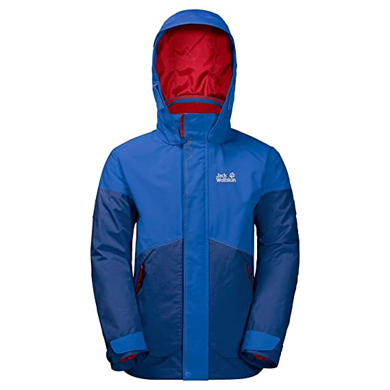 los angeles c4997 cf083 Jack Wolfskin Ragazzi B Polar Lupo 3 in 1 Giacca 3 in 1 ...