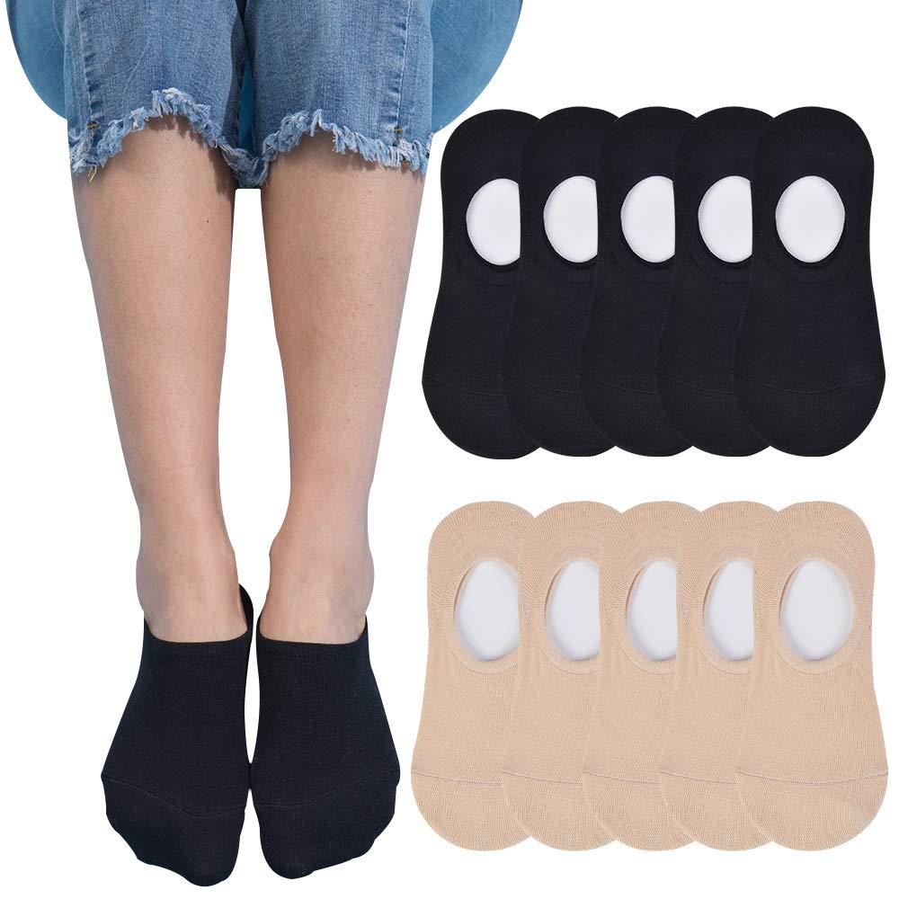 Womens No Show Socks Athletic Running Cotton Low Cut Ankle Socks 5-10 Pack Non Slip Socks For Women