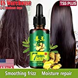 TSSPLUS Fast ReGrow 7 Day Ginger Germinal Serum Essence Oil Loss Treatment Growth Hair
