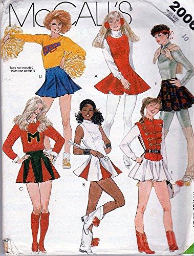Vintage Majorette Costumes (McCall's 2006 ©1985 Cheerleader, Skating, Majorette, Costumes; Size)