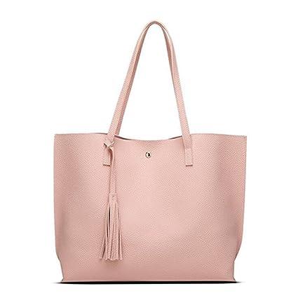 71e743288244 Amazon.com: UOXMDNJC Women Messenger Bags Leather Casual Tassel ...