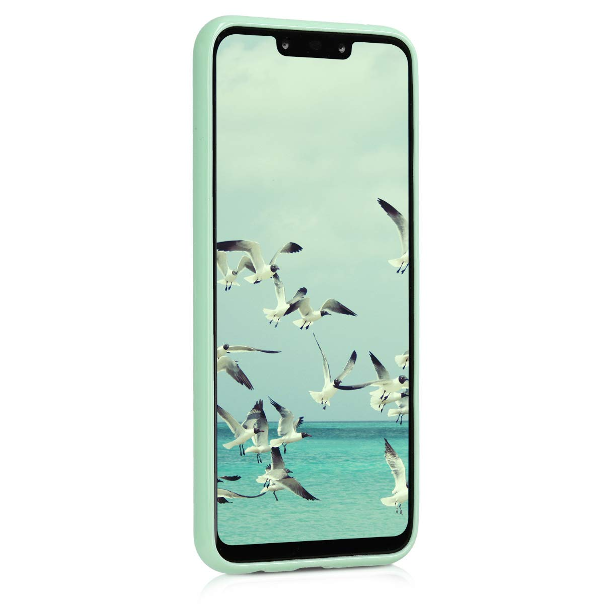 kwmobile TPU Silicone Case for Huawei Mate 20 Lite - Soft Flexible Shock Absorbent Protective Phone Cover - Mint Matte