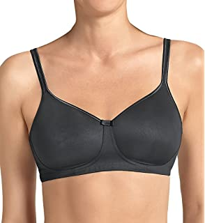 Anita Care 5733X-452 Womens Miss Ribbon Platinum Black Bow Print Microfiber Padded Non-Wired Support Coverage Mastectomy Full Cup Bra