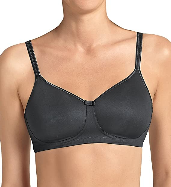 Anita Care 5706X-001 Womens Tonya Black Padded Non-Wired Support Coverage Mastectomy Full
