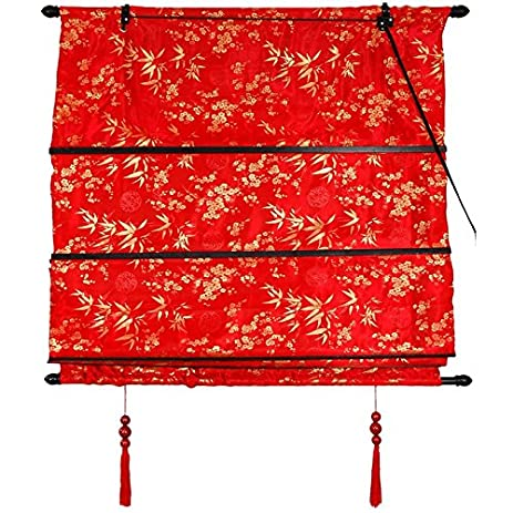 Oriental Furniture Shang Hai Tan Blinds   Red   (36 In. X 72 In