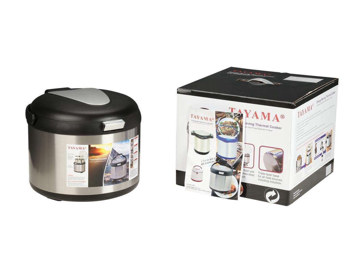 Tayama TXM-50CF Energy-Saving Thermal Cooker, 5 L, Black by TAYAMA (Image #8)