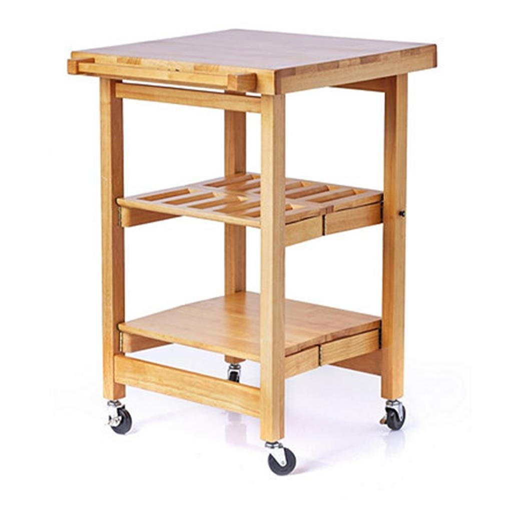 Folding Island The Entertainer Kitchen Trolley with Butchers Block ...