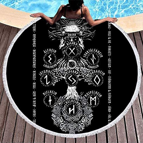 Yggdrasil étnico símbolo de mitología nórdica, impresión redonda ...