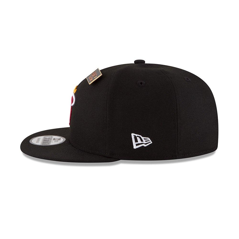 41e70446453 Amazon.com  New Era Miami Heat 2018 NBA Draft Cap 9FIFTY Snapback Adjustable  Hat- Black  Clothing