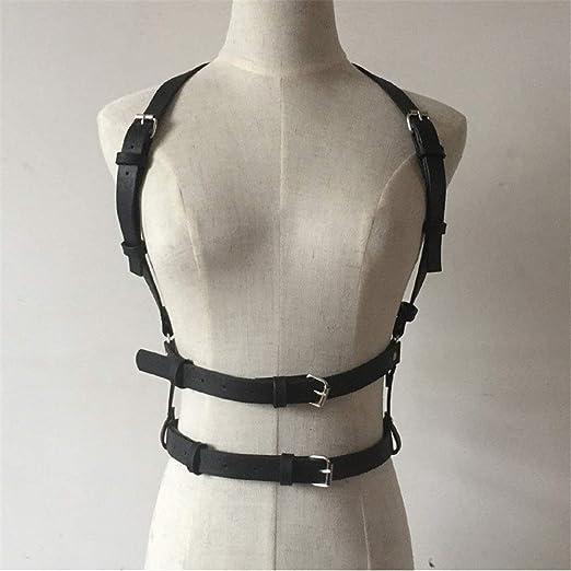 Cinturón de arnés de cuero punk Hombro de las correas de cintura ...