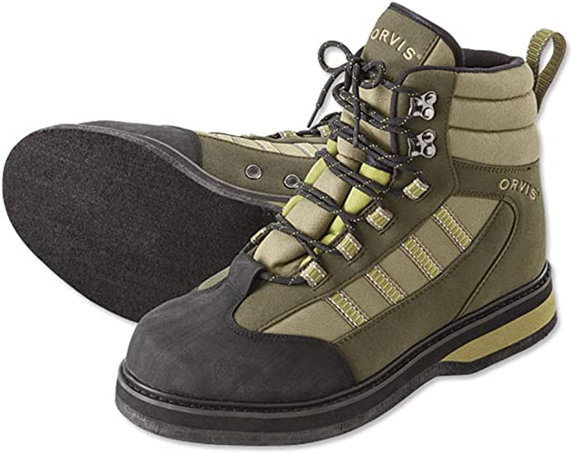 Orvis Encounter Wading Boots - Felt/Only Encounter Wading Boots, 5 Tan/Olive