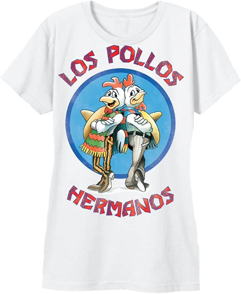 Breaking Bad Los Pollos Hermanos Logo Junior Blanco – Camiseta Weiß Small: Amazon.es: Ropa y accesorios