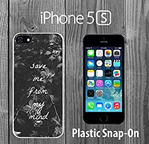 Cool Save Me Quote Custom made Case/Cover/skin FOR iPhone 5/5s -White- Plastic Snap On Case ( Ship From CA)