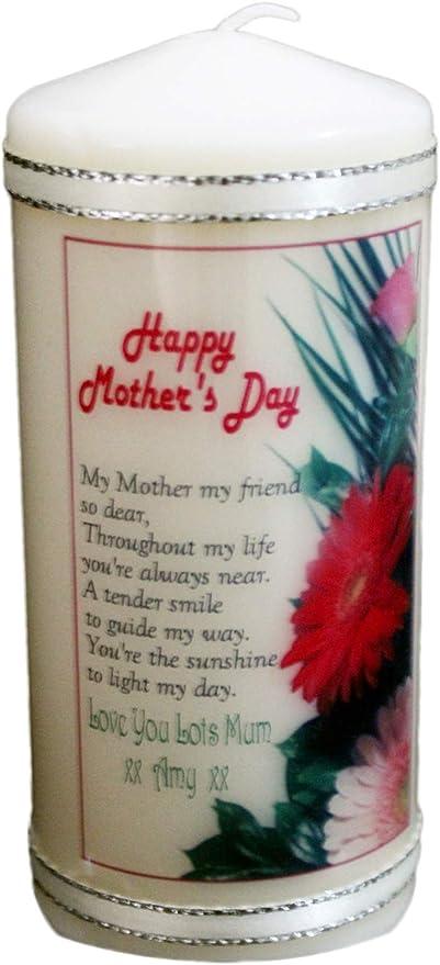 Ma Mère Mon Ami Poème Personnalisé Cadeau Bougie Pour Un