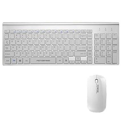 Topmate teclado inalámbrico y ratón multimedia entertainment paquetes teclado y ratón para Apple y Windows10/