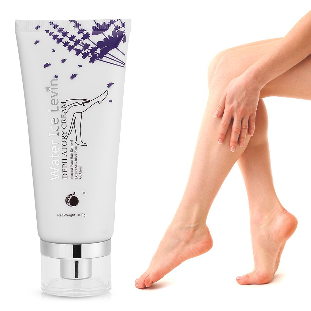 Hair Removal Cream for Men & Women Painless Depilatory Cream Natural Plant Lavender for Bikini Underarm Chest Back Legs and Arms, Clean and Silky - 100g Filfeel
