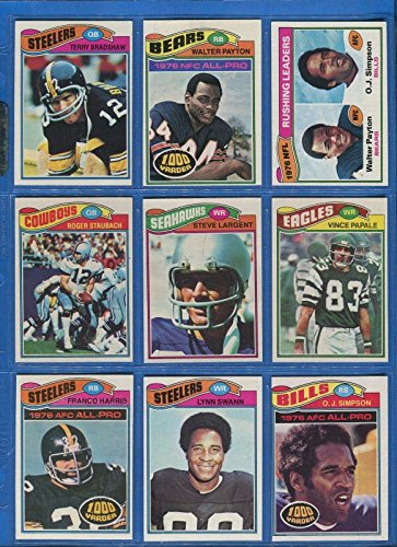 1977 Topps Football Complete 528 Card Set Steve Largent Rookie - 1977 Jack Topps