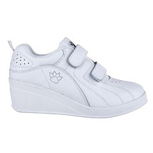 Zapatillas deporte con cuña velcro Kelme en blanco talla 35