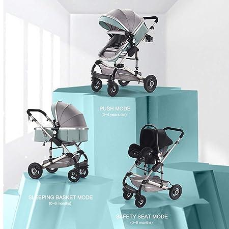 Amazon.com: Mottdam 3 en 1 cochecito de bebé de alta visión ...