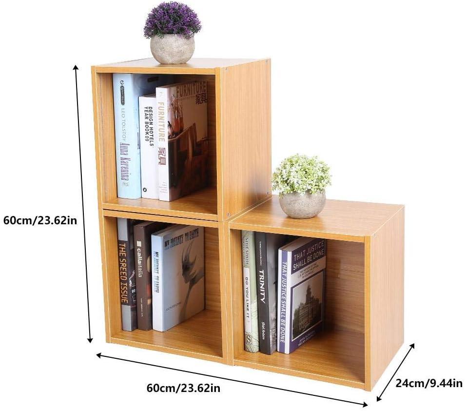 per soggiorno 6 cubi di legno truciolato corridoio Wakects Libreria separata per libri camera da letto balcone cucina divisorio con 3 livelli 80 x 24 x 96 cm studio