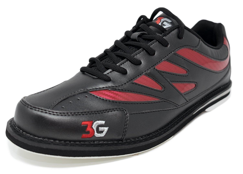 Chaussures de bowling, pour 3 G Cruze, Mesdames et Messieurs, pour bowling, droitiers et gauchers, 2 couleurs, Chaussures Taille 36–46 40.5|noir/rouge 8d1966