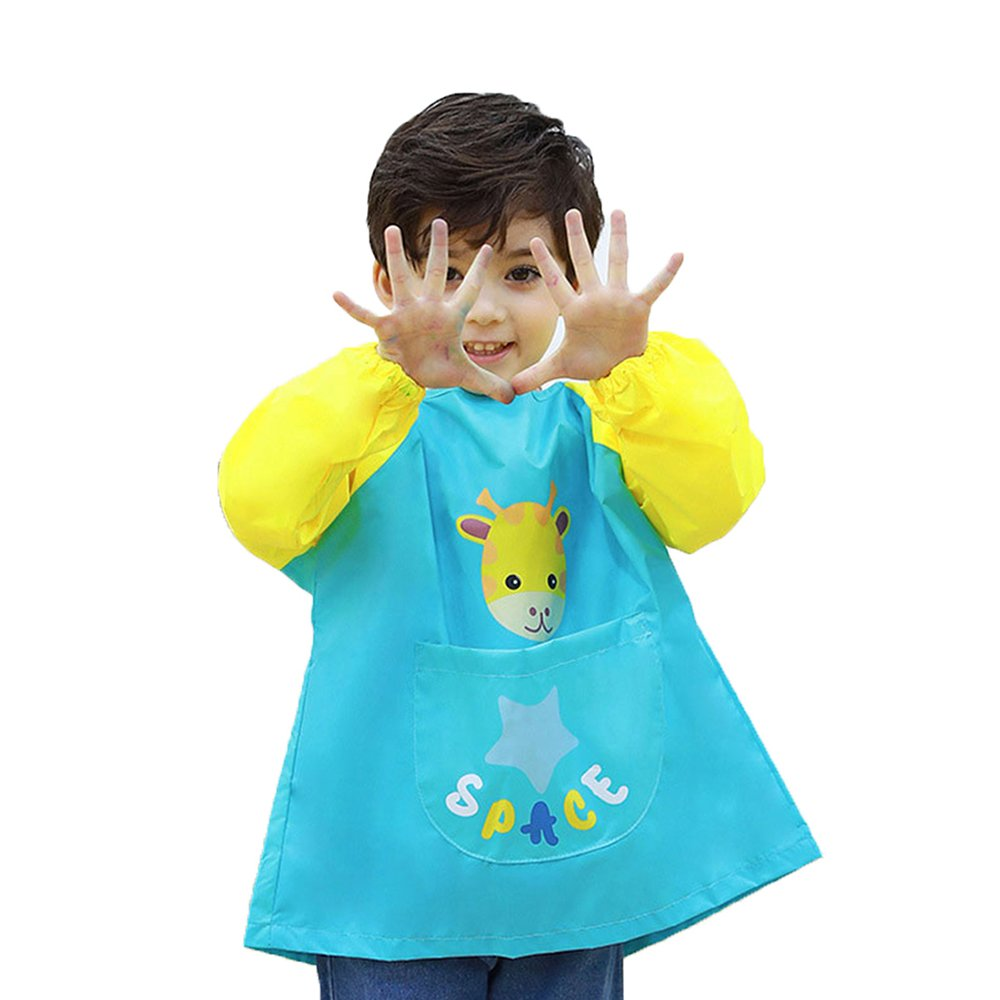 Hosim Kids Waterproof Art Aprons Children Painting Smock Washable