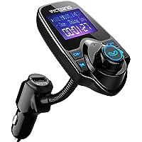 VicTsing T10 FM Transmitter, Bluetooth FM Transmitter, Flexible Gooseneck Car Radio Kit