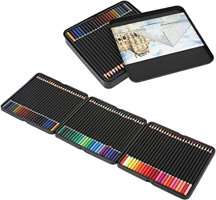 DWDMZ Estuche de Lápices de Colores con Caja de Meta para Dibujo Profesional Caja de 72 Unidades Lápices de Dibujo Artístico 72 Colores Numerados: Amazon.es: Oficina y papelería