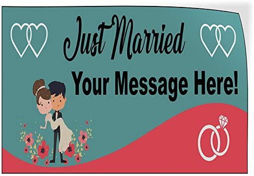 Custom Door Decals Vinyl Stickers Multiple Sizes Best Wishes Red Hearts Lifestyle Wedding Outdoor Luggage /& Bumper Stickers for Cars Red 52X34Inches Set of 5