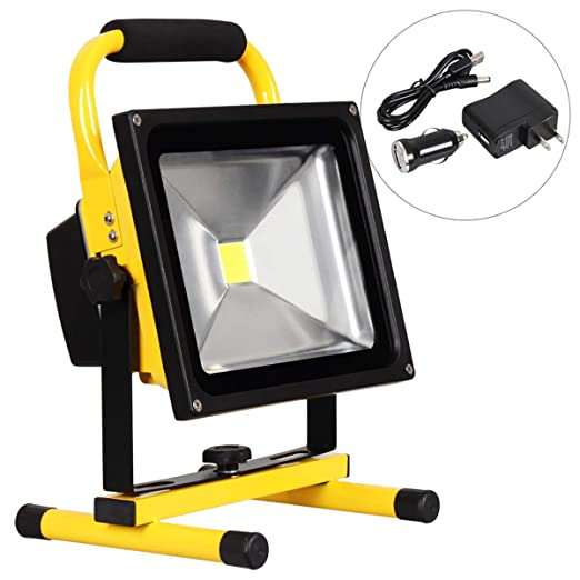 BERGHT Foco LED Proyector, luz de Trabajo led Recargable (10W/20W ...