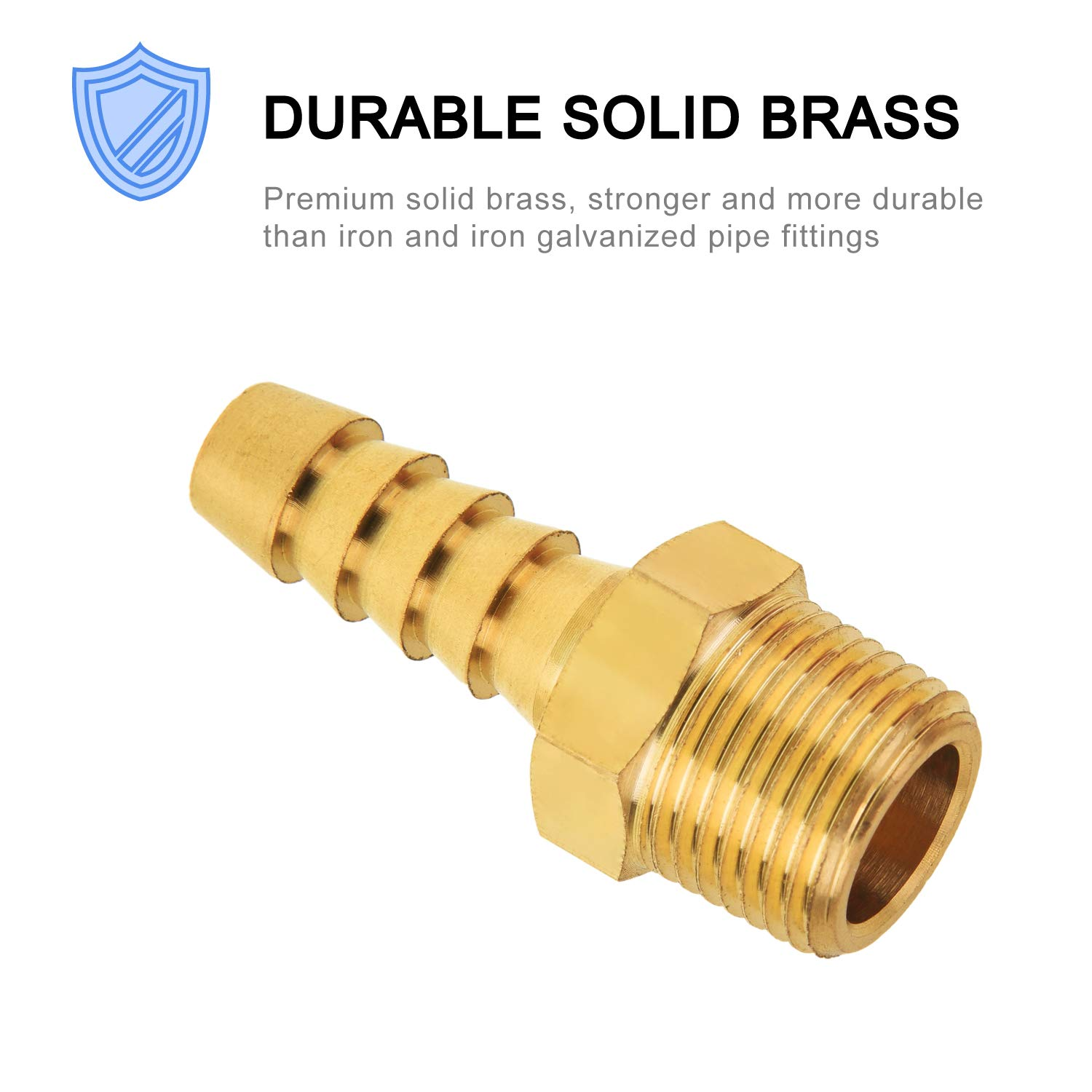 Adapter 3//8 Barb x 3//8 NPT Male Pipe 2-Pack SUNGATOR Brass Hose Fitting