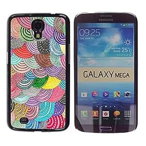 TopCaseStore / la caja del caucho duro de la cubierta de protección de la piel - Barets Curcular Pattern Hand - Samsung Galaxy Mega 6.3 I9200 SGH-i527