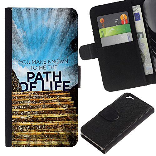 EuroCase - Apple Iphone 6 4.7 - YOU MAKE KNOWN TO ME THE PATH OF LIFE - Cuir PU Coverture Shell Armure Coque Coq Cas Etui Housse Case Cover