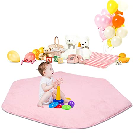 Soft Square Pad Mat Crawing Rug Carpet for Baby Kid Play Tent Playhouse Nursery Toys & Activities