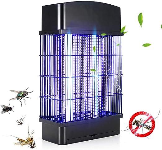 Lámpara Anti Mosquitos insecticidas de choque eléctrico LED Lámpara Mata Mosquitos,Polillas,Moscas,Familia,jardín,oficina,restaurantes,supermercados,granjas,patios,hospitales,escuelas,Black30W: Amazon.es: Jardín