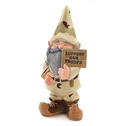 Gifts U0026 Decor Support Our Troops Gnome Patriotic USA Garden Outdoor Statue