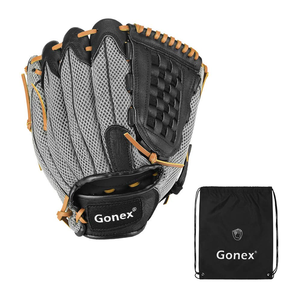 Gonex Baseball Glove for Adult, Softball Mitt for Men and Women, 12.5 Inch Outfield Infield Right Hand Throw Glove with Carrying Bag by Gonex