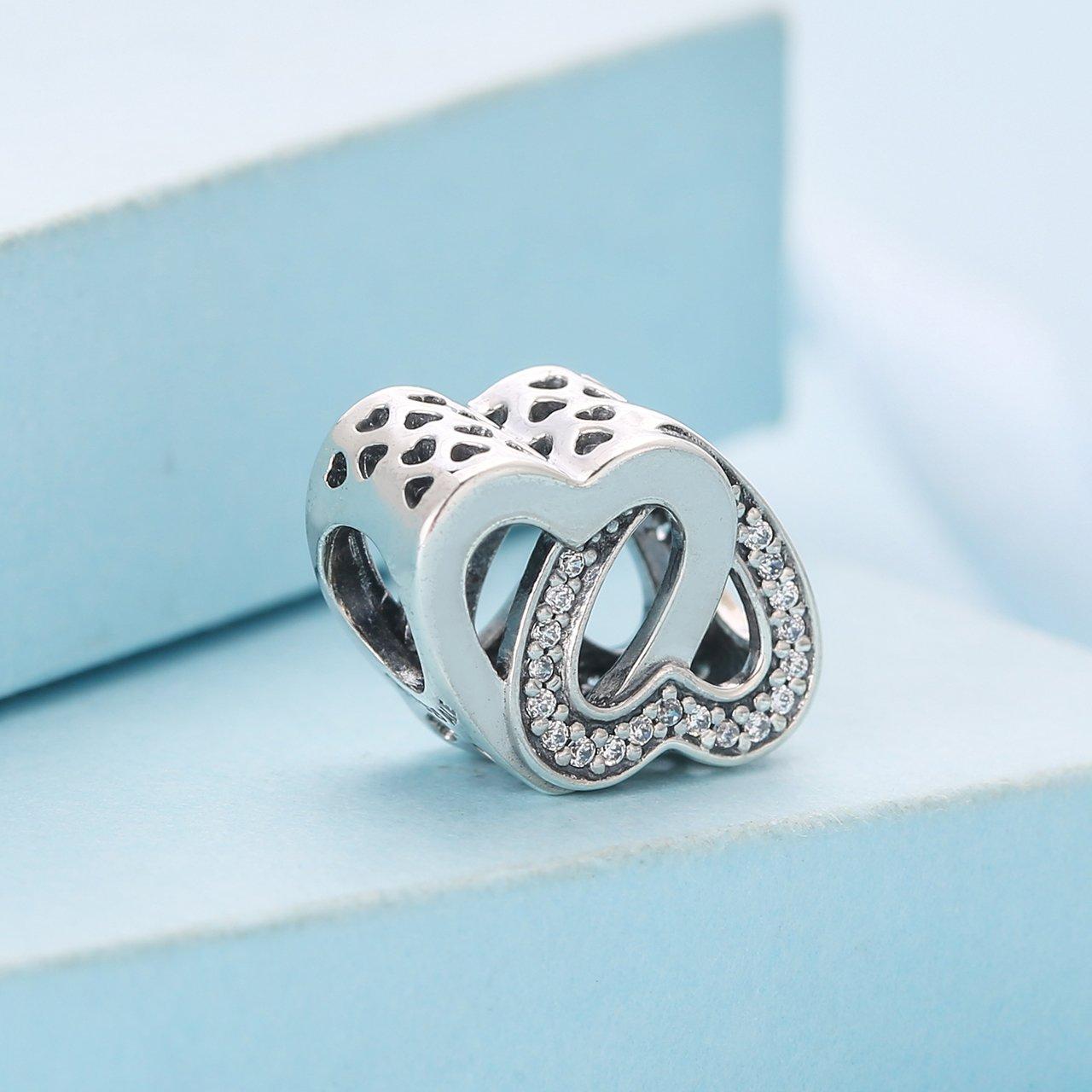 1f5a3861c Amazon.com: PANDORA Entwined Love Charm 791880CZ: Jewelry