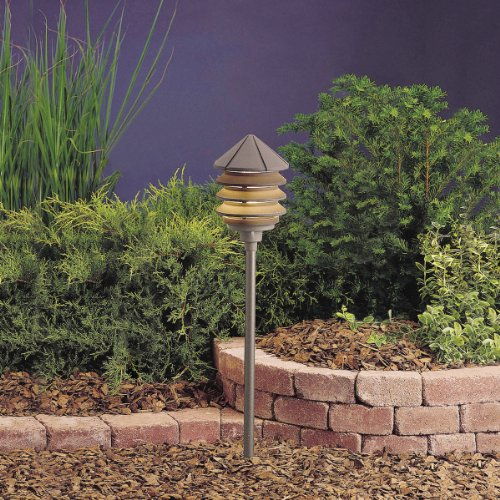 Kichler Textured Architectural Bronze Path Light in Florida - 4