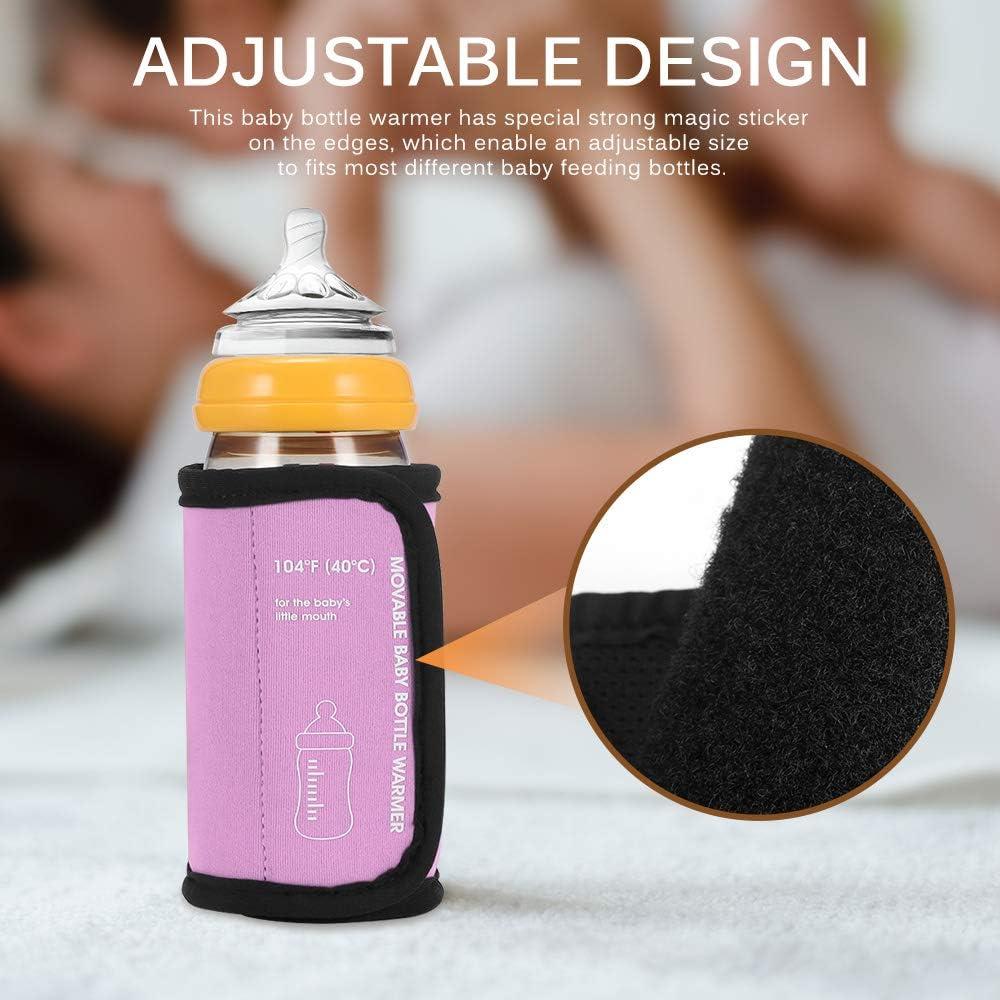 Konesky Bottle Warmer USB Travel Car Milk Heater Keep Baby Milk or Water Warm Multifunction Coffee Tea Mug Beverage Warming Bag
