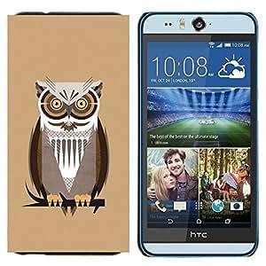 YiPhone /// Prima de resorte delgada de la cubierta del caso de Shell Armor - El profesor del noctámbulo - HTC Desire Eye M910x