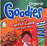 Organix Goodies Organic Soft Oaty Bars - Carrot Cake 12mth+ (6x30g) - Pack of 6