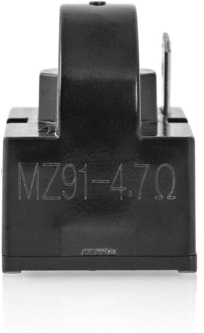 QWORK 2 Pack QP2-4R7 4.7 Ohm 1 Pin Refrigerator PTC Starter Relay for Mini Fridges and Coolers