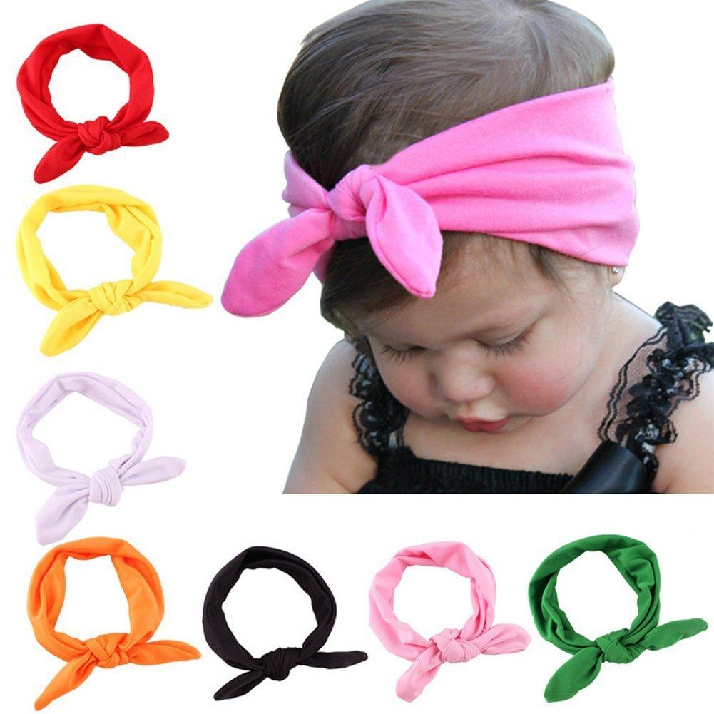 Tininna 8 pz cute Baby Girl Cross turbante fascia per capelli fiocchi capelli fascia copricapo copricapo TININNA1018X(8)