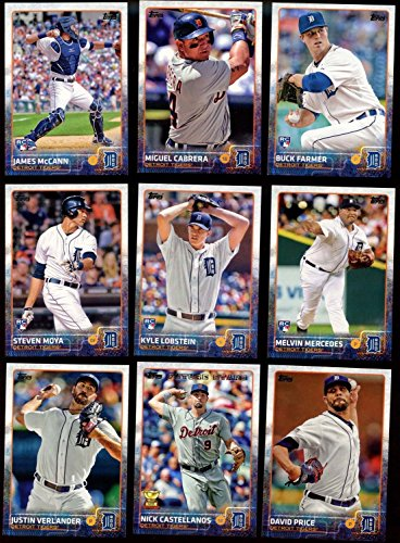 Detroit Tigers 2015 Topps MLB Baseball Regular Issue Complete Mint 23 Card Team Set with David Price, Miguel Cabrera, Justin Verlander Plus