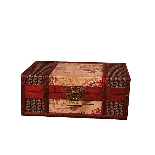 REMZ Organizador De Escritorio Vintage, Caja Organizadora Madera ...