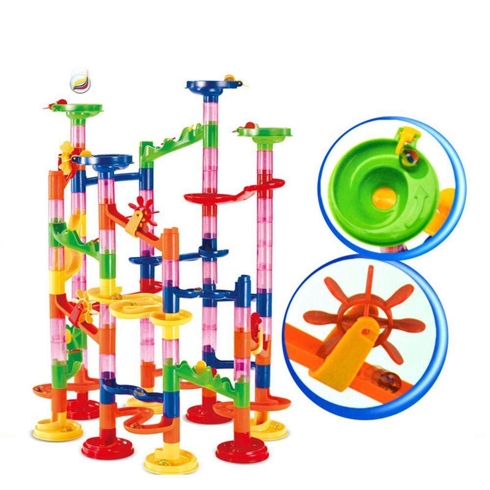 ビー玉ランレースコースターセット ビー玉ラン線路おもちゃ [105ピース] 建設玩具 組み立てブロックセット 学習教育 子供 幼児 男の子 女の子 対象年齢 4 5 6 7歳以上   B07L12RYYM