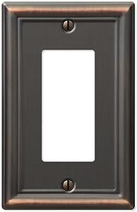 Amerelle 149RDB Chelsea Steel Wallplate 1 Rocker Light Switch Aged Bronze